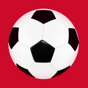 "blank 6"" soccer ball on red"