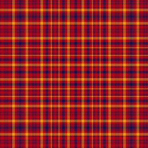 "Culloden artefact, possibly a Munro tartan, 6"" repeat"