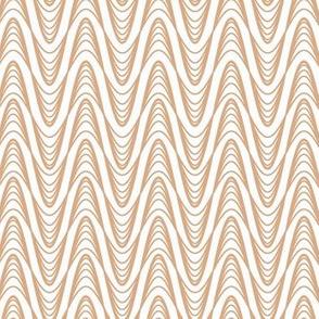 Atomic Wave Pattern - Tan