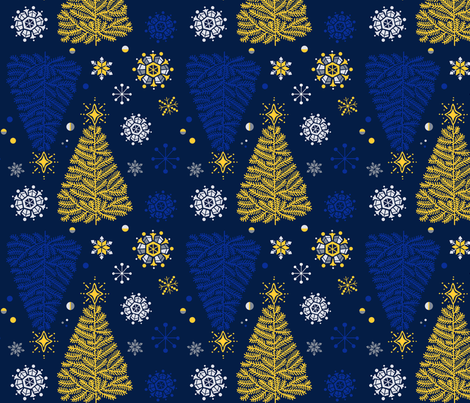 MAJA_TREEflakes150 fabric by maja_a on Spoonflower - custom fabric