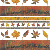 Falling leaves border print