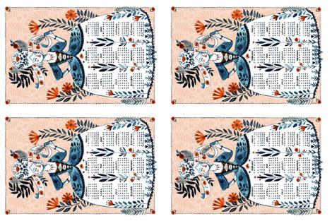 2018 Tea Towel fabric by abigailhalpin on Spoonflower - custom fabric
