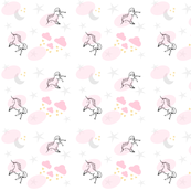 magical unicorns 7 - gray pink sprinkle
