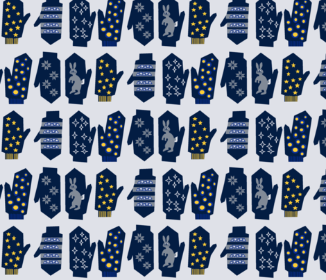 The Winter Mittens Mod Limited Color Palette  fabric by palusalu on Spoonflower - custom fabric