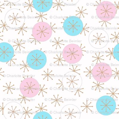 Atomic Snow Ditzy - Pink & Cyan