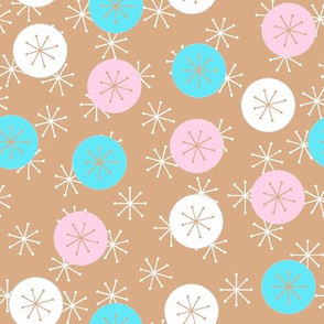 Atomic Snow Ditzy - Tan, Pink, Cyan
