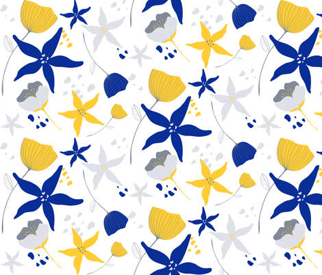 Floral Winter fabric by nagorerodriguez on Spoonflower - custom fabric