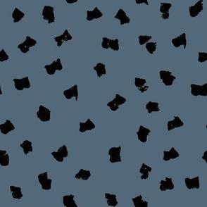 dots // painted minimal polka dots basic dot fabric payne's grey