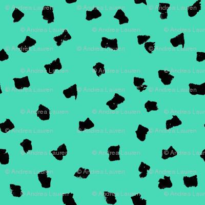 dots // painted minimal polka dots basic dot fabric jade