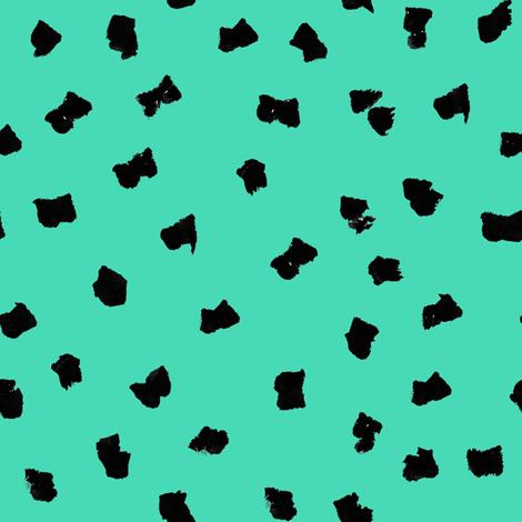 dots // painted minimal polka dots basic dot fabric jade fabric by andrea_lauren on Spoonflower - custom fabric