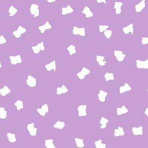 dots // painted minimal polka dots basic dot fabric lavender