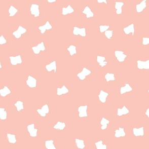 dots // painted minimal polka dots basic dot fabric peach