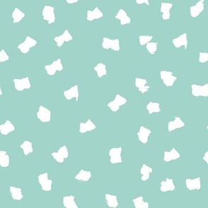 dots // painted minimal polka dots basic dot fabric mint