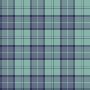 "Dunbar tartan, 6"", custom colorway slate/mint"