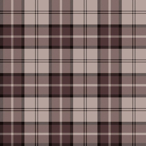 "Dunbar tartan, 6"", custom colorway brown/taupe"