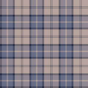 "Dunbar tartan, 6"", custom colorway slate/taupe"