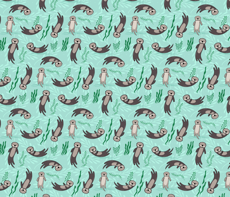Significant Otters - 75% Scale fabric by lellobird on Spoonflower - custom fabric