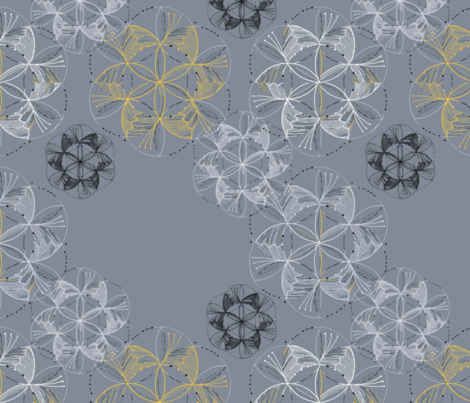 Falling_Lacey_Snow fabric by shapeseekerstudio on Spoonflower - custom fabric