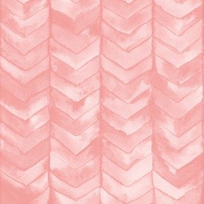 Watercolor Chevron in Blush // watercolor painted chevron baby pink rose mermaid scale fabric