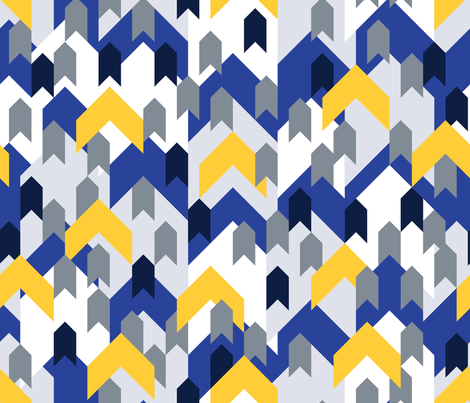 Mountain_rooftops fabric by corazón-designs on Spoonflower - custom fabric