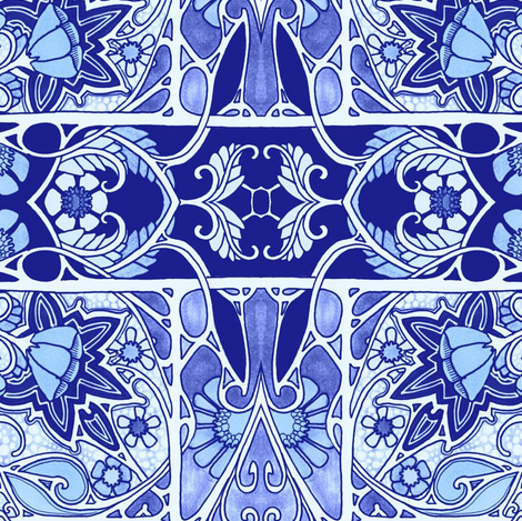 In a Bluer Place fabric by edsel2084 on Spoonflower - custom fabric