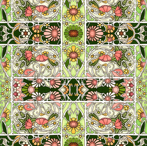 Suddenly Spring Sprang fabric by edsel2084 on Spoonflower - custom fabric