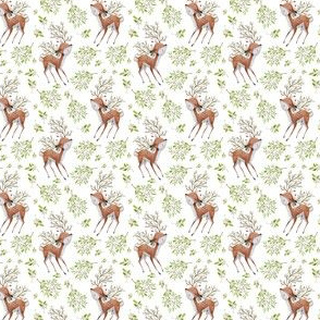 """1.75"""" Floral Fawn with Extra Branches"""