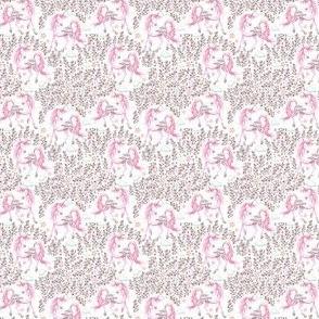 """1.75"""" Pink Unicorn Floral Garden / PINK"""