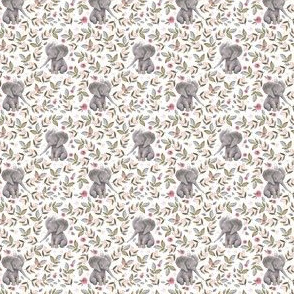 "1.75"" Baby Elephant with Crown & Florals /  Mix & Match"