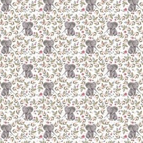 "1.75"" Baby Elephant with Flowers/ NO CROWN  / Mix & Match"