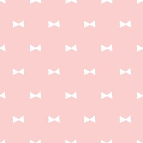 White bows / pink