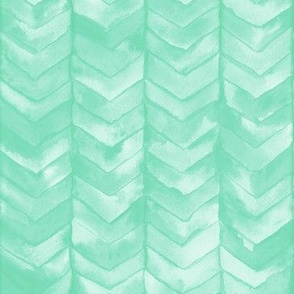 Watercolor Chevron in Mint