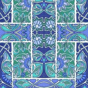 Nouveau Paisley Garden Blues