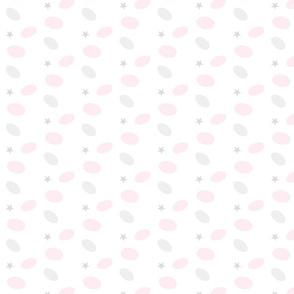 Sprinkle Dot Stars 233- gray pink