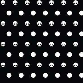 polka dot skulls