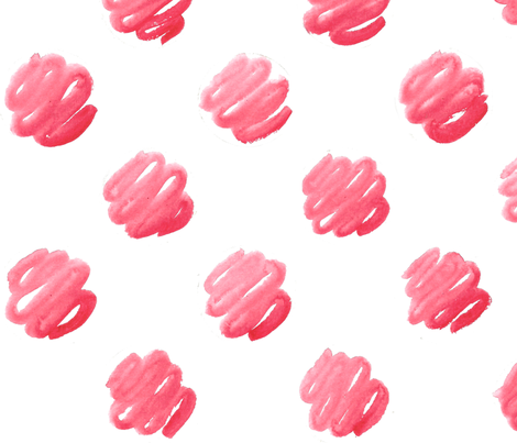Red_Watercolor_Dots_300dpi fabric by technicolor_bunnies on Spoonflower - custom fabric