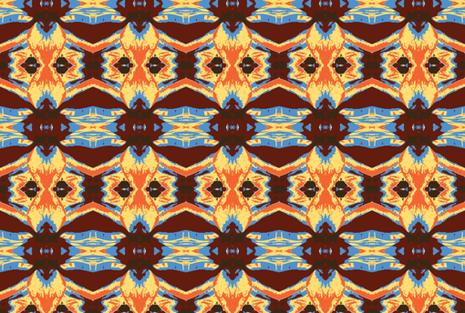 Beyond Brown Shields, 3 fabric by susaninparis on Spoonflower - custom fabric