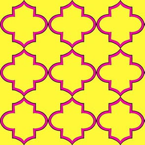 Hot pink and yellow lattice