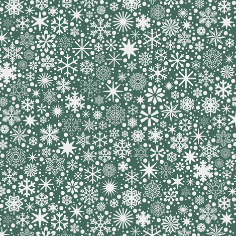 Let It Snow!* (Statue of Liberty)    snowflakes ditsy star stars winter Christmas holiday fabric by pennycandy on Spoonflower - custom fabric