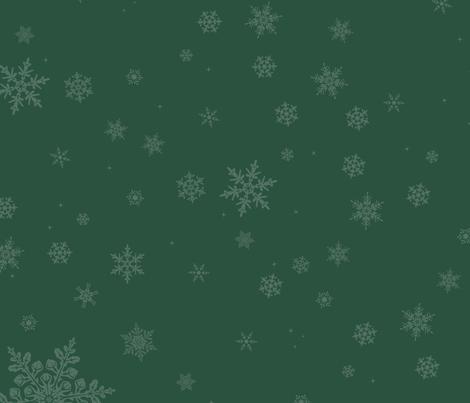 Dashing through the Snowflakes fabric by thetwistedbit on Spoonflower - custom fabric