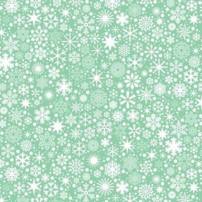 Let It Snow!* (Green Stamps) || snowflakes ditsy star stars winter Christmas holiday