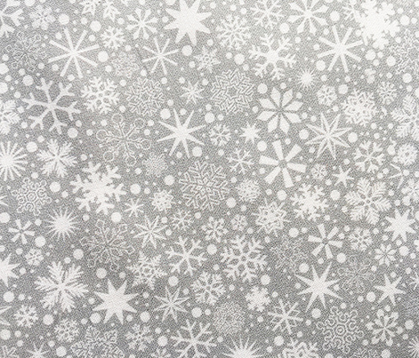 Let It Snow!* (Silkscreen) || snowflakes ditsy star stars winter Christmas holiday