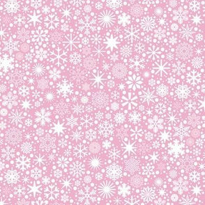 Let It Snow!* (Pink Cow) || snowflakes ditsy star stars winter Christmas holiday