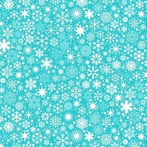 Let It Snow!* (Television Blue) || snowflakes ditsy star stars winter Christmas holiday