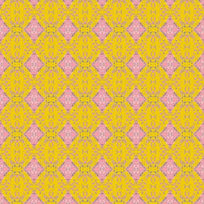 Pink and Mustard Lace