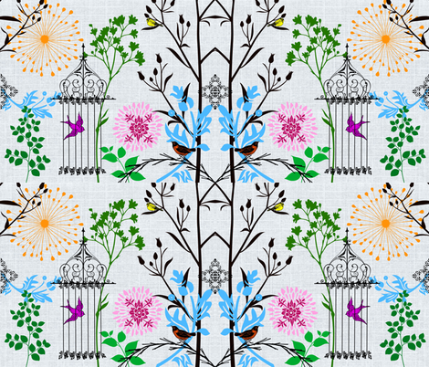 Garden delights fabric by lil_chick_ent_ on Spoonflower - custom fabric