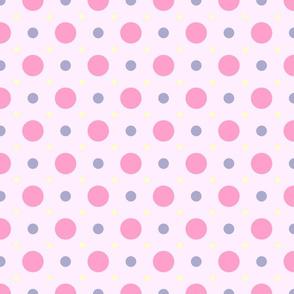 Pastel Spot Pink-Purple-Yellow