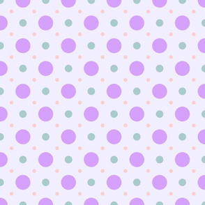 Pastel Spot Purple-Green-Orange