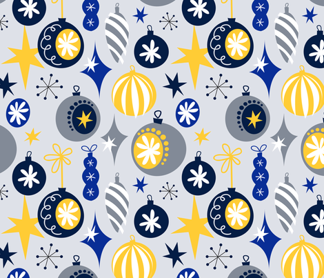 Mod Christmas Ornaments fabric by hayleypatten on Spoonflower - custom fabric
