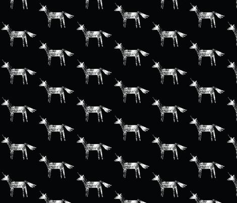 unicorn stamp fabric by nathanwellmanart on Spoonflower - custom fabric